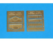Photo-etched – special parts - two type register number plate and two pcs Rally Monte Carlo plate ( old version ) for Escort MK.I