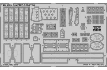 Photo-etched – special parts - Audi Quattro Sport S1 1985 /1986