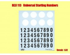 Decal - starting numbers - oldies black with white round plate