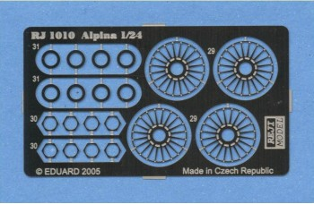 Photo-etched – special parts - Wheels wire panel – Alpina 15""