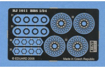 Photo-etched – special parts - Wheels wire panel – BBS 15""