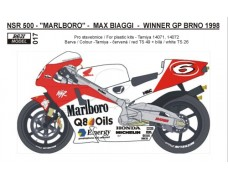 Decal – Honda  NSR 500 Max Biaggi – GP Czech 1998