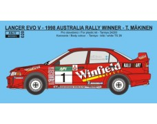 Decal – Mitsubishi Lancer Evo V Rally Australia 1998 – Winfield