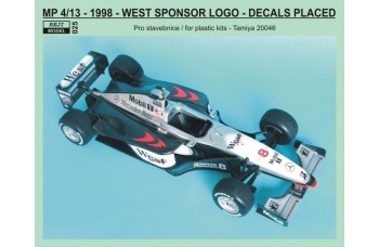 Decal – McLaren MP 4 vers.13  West logos
