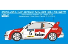 Decal – Toyota Corolla WRC - Rally Catalunya 1998 / Ypres 1998 - F.Loix