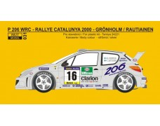 Decal – Peugeot 206 WRC  Rally Catalunya 2000
