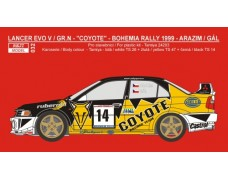 Transkit – Mitsubishi Lancer Evo V Gr.N - Coyote rally team 1999