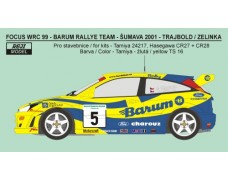 Decal – Ford Focus WRC  Barum rally team 2001 + 2002