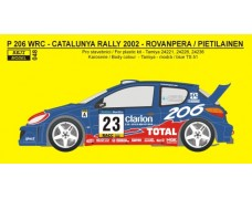 "Decal – Peugeot 206 WRC Rally Catalunya 2002 ""Bozian"""