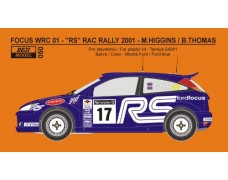 Decal – Ford Focus WRC 01 RAC rally 2001 – M. Higgins