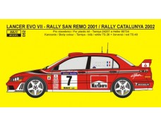 Decal – Mitsubishi Lancer EVO VII - San Remo 2001 Catalunya 2002