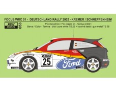 Decal – Ford Focus WRC 01 Rally Deutschland 2002 – Kremer