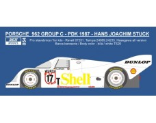 Decal – Porsche 962C H.J.Stuck 1987