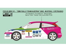 Decal – Ford Focus WRC 01OMV Austria rally team  2002 - Stohl