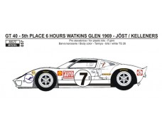 Decal – Ford GT 40 - Watkins Glen 1969 – Joest / Kelleners