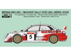 Decal – Subaru Impreza WRC 2002 Matador rally team 2003