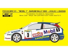 Decal – Ford Focus WRC 01 Barum Rally 2001 – Kulig / Baran