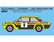 "Decal -  Fiat 131 Abarth Rally Monte Carlo 1981 ""Calberson"" ( strip templates included )"