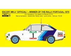"Decal – Ford Escort RS 1800 ""Official""  Portugal 1979"