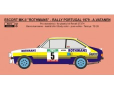 "Decal – Ford Escort RS 1800 ""Rothmans""  Portugal rally 1979"