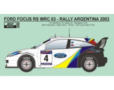 Decal - Ford Focus WRC 03 Rally Argentina 2003