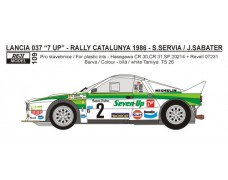 "Decal – Lancia 037 ""Seven Up"" Rallye Catalunya 1986 – S.Servia"