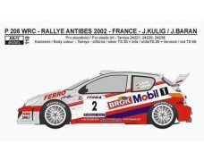 "Decal – Peugeot 206 WRC ""Mobil 1""  -> Rally Antibes 2002 – J.Kulig"