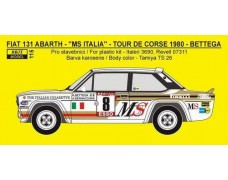"Decal -  Fiat 131 Abarth ""MS"" - Rally San Remo 1981 - A. Bettega"