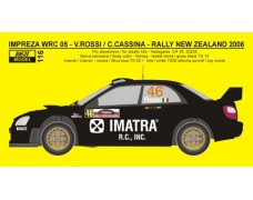 Decal - Subaru Impreza WRC 05 Rally New Zealand 2006 - V.Rossi