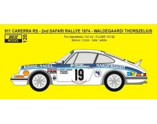 Decal - Porsche 911 Carrera 2.7RS - 2nd Safari rally 1974