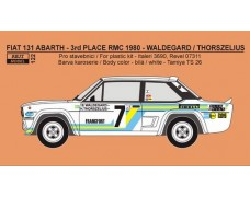 "Decal -  Fiat 131 Abarth ""SVENSKA"" -> 3th place Rallye Monte Carlo 1980 - Waldegard / Thorszelius"