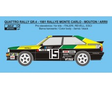 "Decal – Audi Quattro Rally  ""BP"" - Rally Monte Carlo 1981 – Mouton / Arrii"
