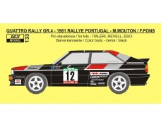 "Decal – Audi Quattro Rally  ""Official"" - Rally Portugal 1981 – Mouton / Pons"