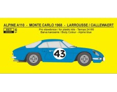 Decal – Alpine A 110  - Monte Carlo 1968 / Tour de Corse 1970