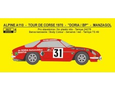 Decal – Alpine A 110  - Tour de Corse 1970 - Manzagol