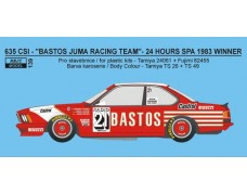 "Decal – BMW 635 CSi  ""Bastos Juma Racing"" - 1983 – 24h Spa Winner"