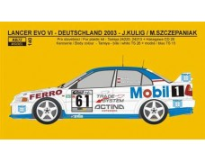 "Decal – Mitsubishi Lancer EVO VI  ""Mobil 1"" - Deutschland rally 2003"