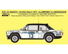 "Decal -  Fiat 131 Abarth ""FIAT UK"" - 7th RAC1977"