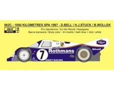 "Decal – Porsche 962 C ""Rothmans"" - 1000 km Spa 1987"