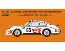 Decal - Porsche 934 RSR LeMans 1976 - Kremer Racing