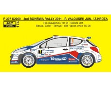 "Decal - Peugeot 207 S2000 ""Delimax"" Bohemia Rally 2011"