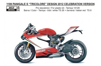 Decal – Ducati 1199 Panigale - Tricolori + WDW 2012 version