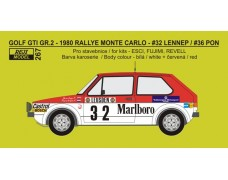 Decal + P/E – VW Golf GTI - Rallye Monte Carlo 1980 - # 32 / 36