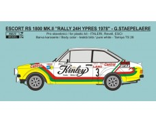"Decal – Ford Escort RS 1800 ""Kinley tonic"" - 2nd place Rally Ypres 1978"