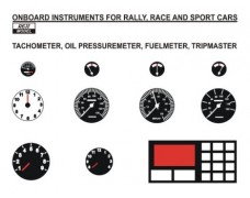 Decal – Onboard instruments rally / sport cars