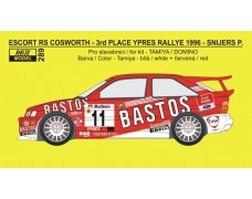 Decal – Escort RS Cosworth - Bastos rally team - Ypres 1996