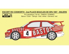 Decal – Escort RS Cosworth - Bastos rally team - Boucles de Spa 1997