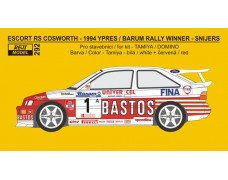 Decal – Escort RS Cosworth - Bastos rally team - Ypres / Barum rally winner 1994