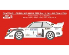 Decal – Audi Quattro S1 - British Midland Ulster Rally 1985 - Mouton / Pons