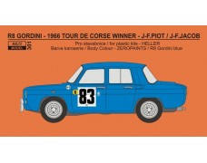Decal – Renault R8 Gordini - Tour De Corse 1966 winner - Piot / Jacob